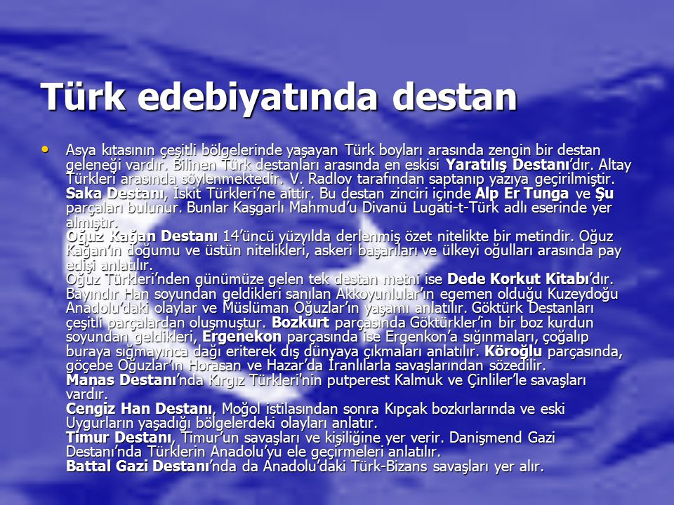 Türk edebiyatında destan