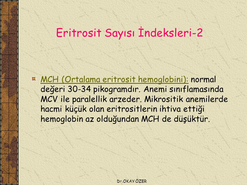 Eritrosit Sayısı İndeksleri-2