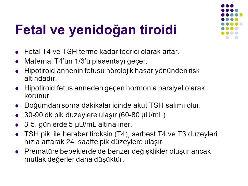 Fetal ve yenidoğan tiroidi