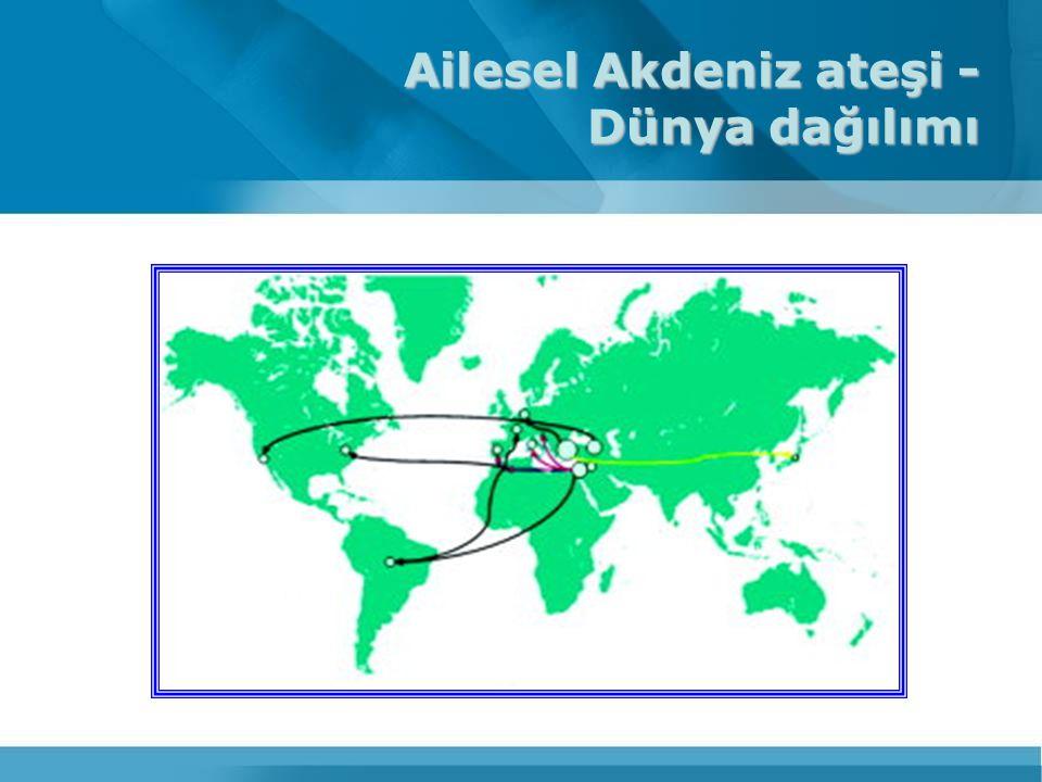 Ailesel Akdeniz ateşi - Dünya dağılımı
