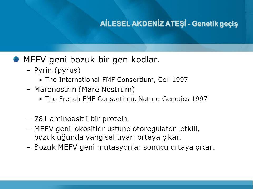 AİLESEL AKDENİZ ATEŞİ - Genetik geçiş