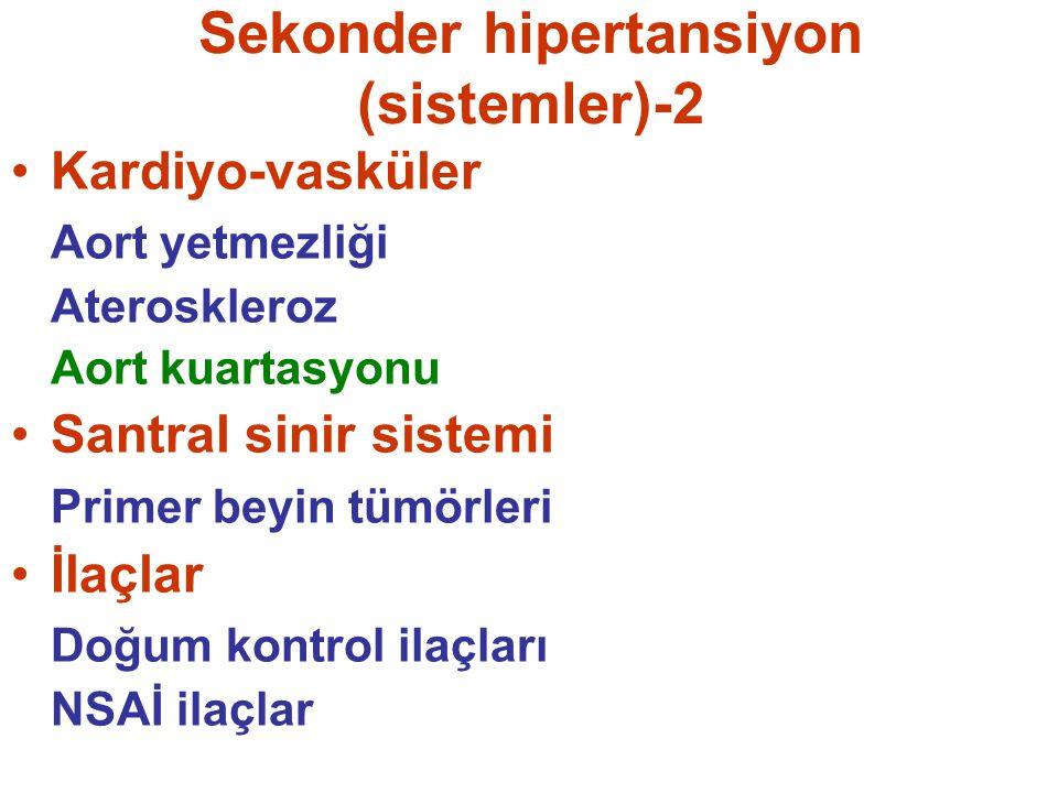 Sekonder hipertansiyon (sistemler)-2