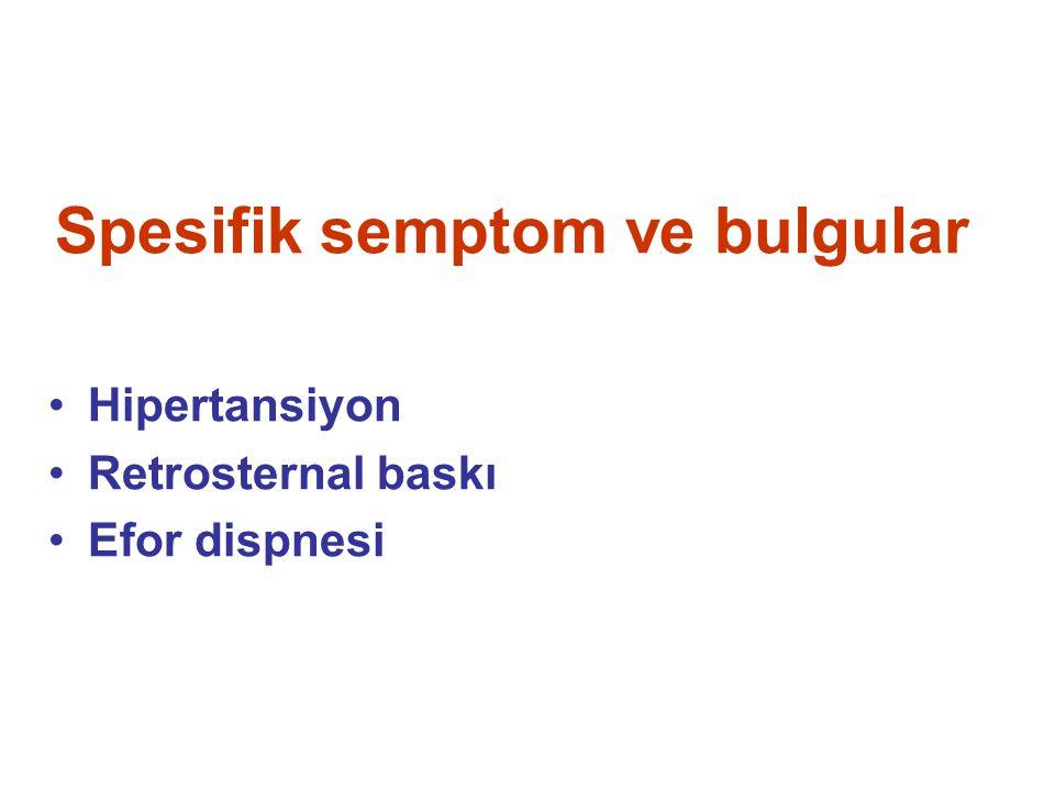 Spesifik semptom ve bulgular