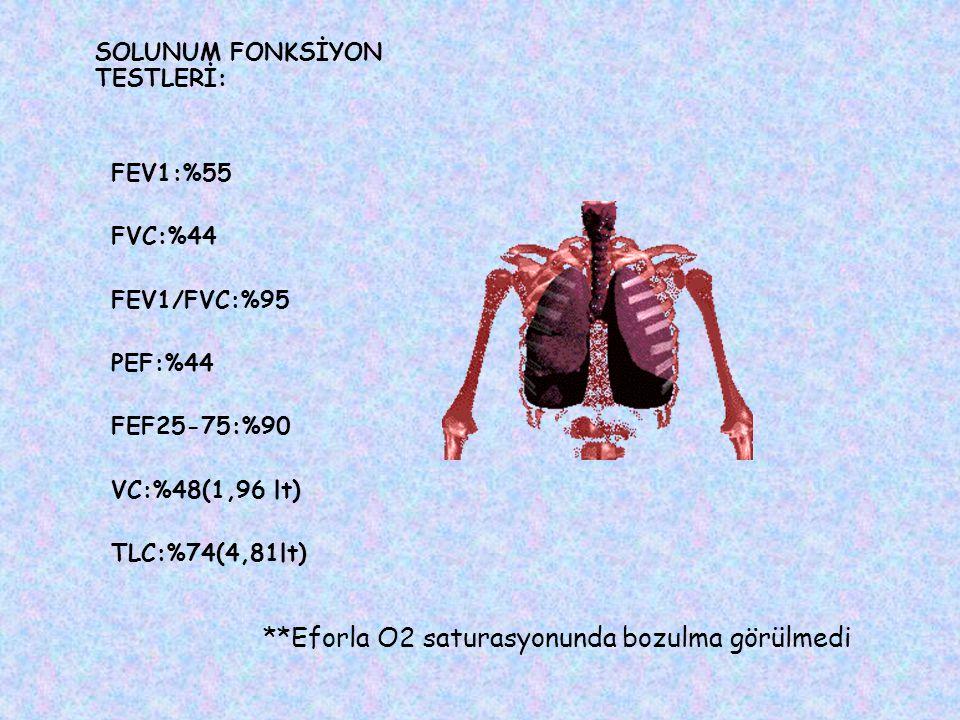 **Eforla O2 saturasyonunda bozulma görülmedi