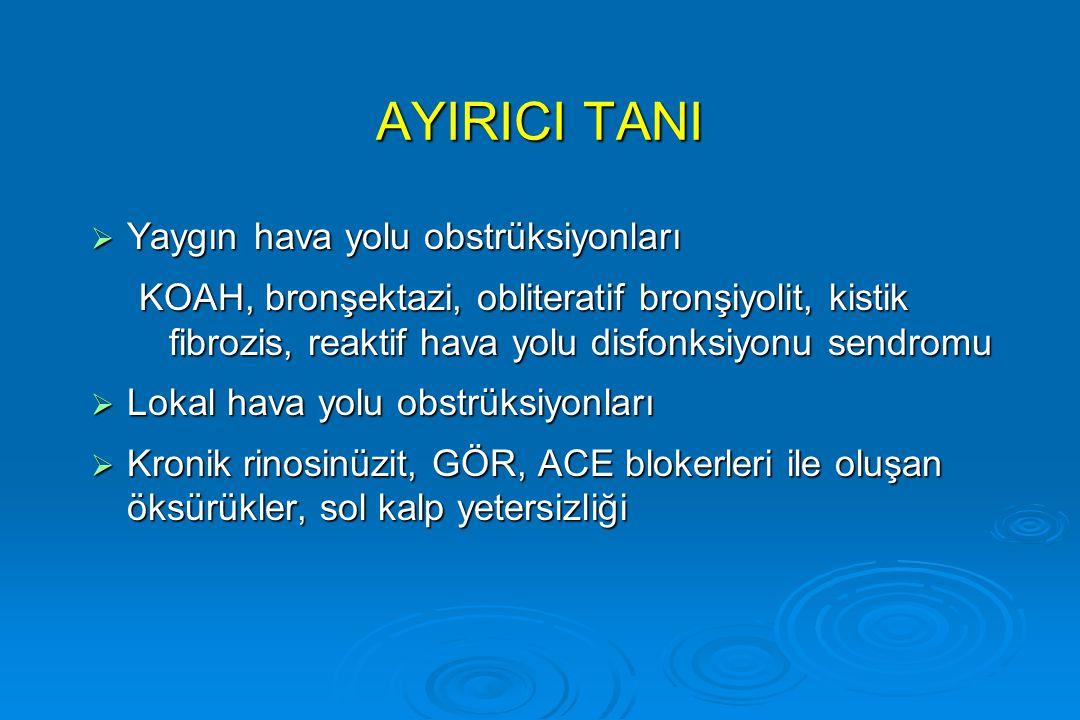 AYIRICI TANI Yaygın hava yolu obstrüksiyonları