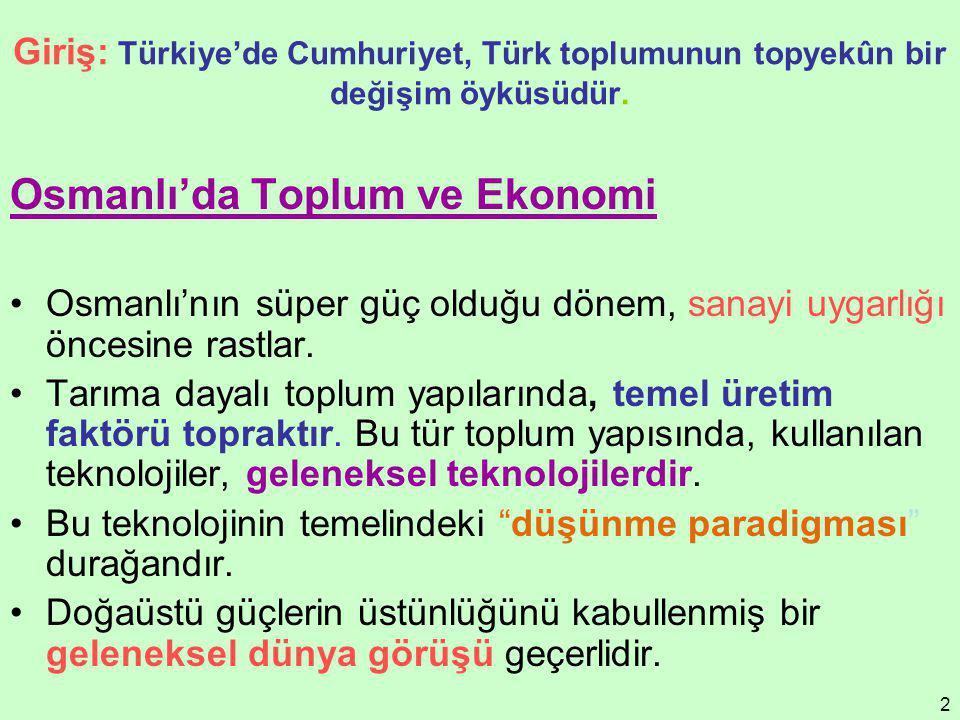 Osmanlı'da Toplum ve Ekonomi