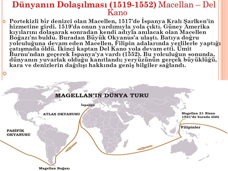 Dünyanın Dolaşılması (1519-1552) Macellan – Del Kano