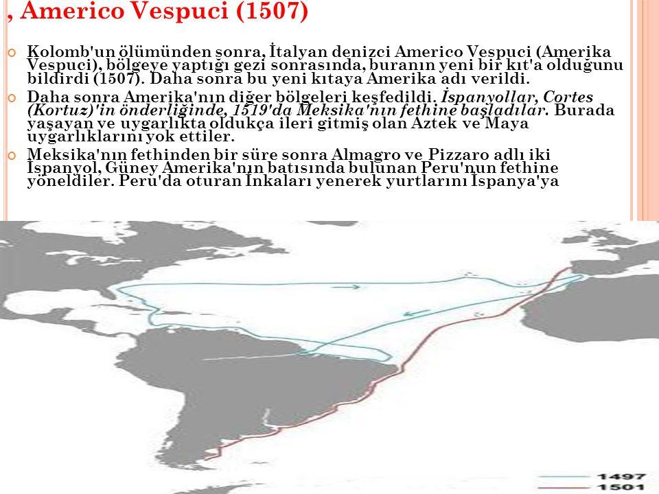 , Americo Vespuci (1507)