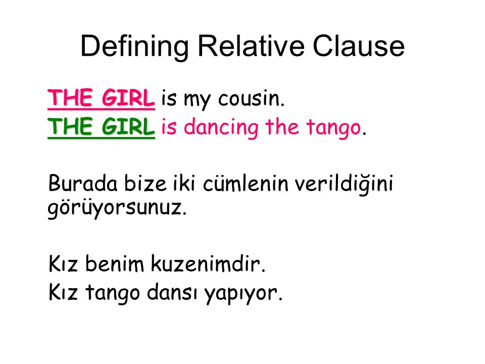Defining Relative Clause