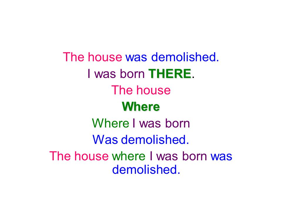 The house was demolished. I was born THERE. The house Where