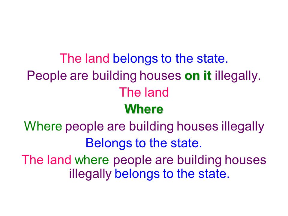 The land belongs to the state.