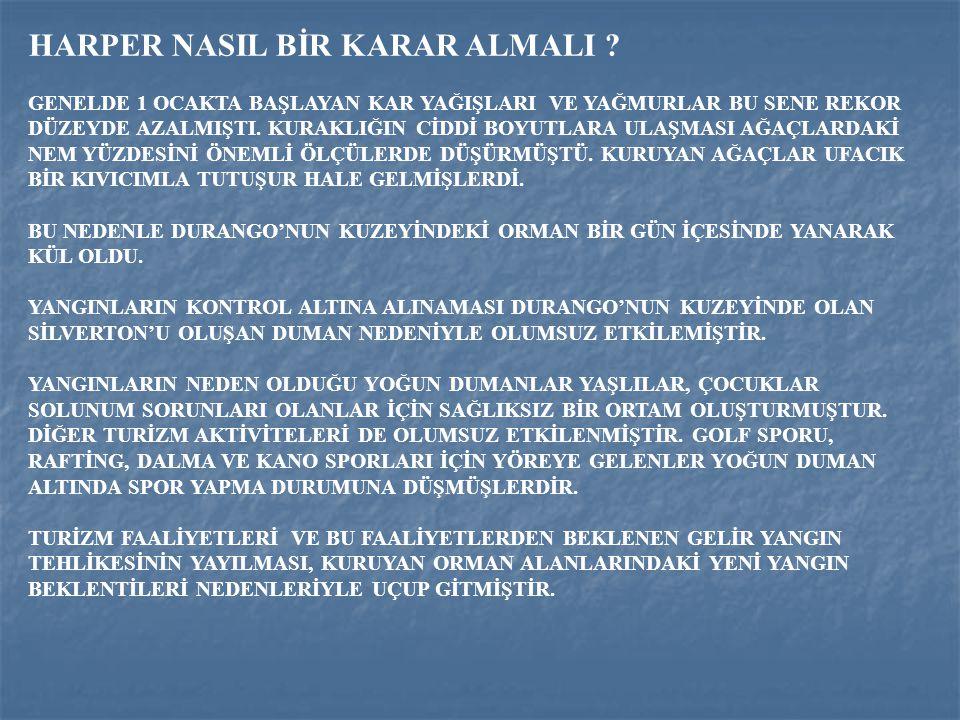 HARPER NASIL BİR KARAR ALMALI