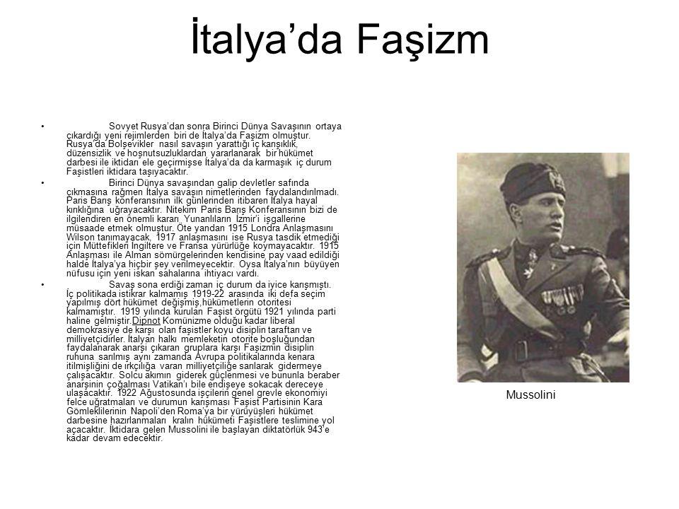 İtalya'da Faşizm Mussolini