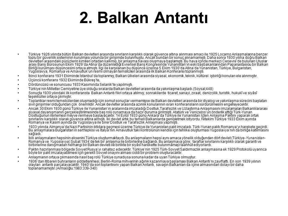2. Balkan Antantı