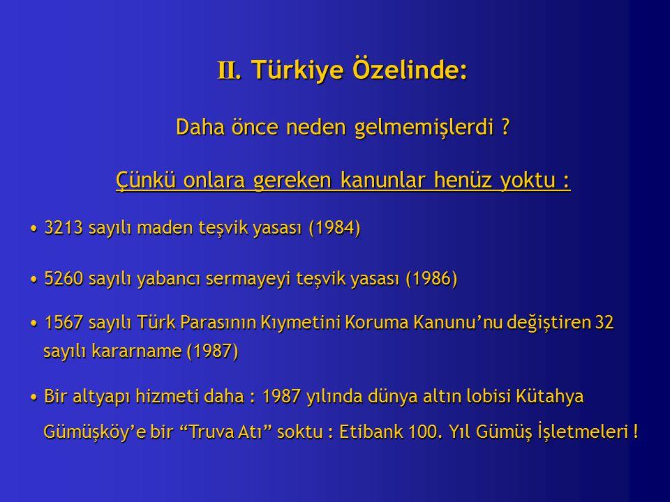 II. Türkiye Özelinde: Daha önce neden gelmemişlerdi