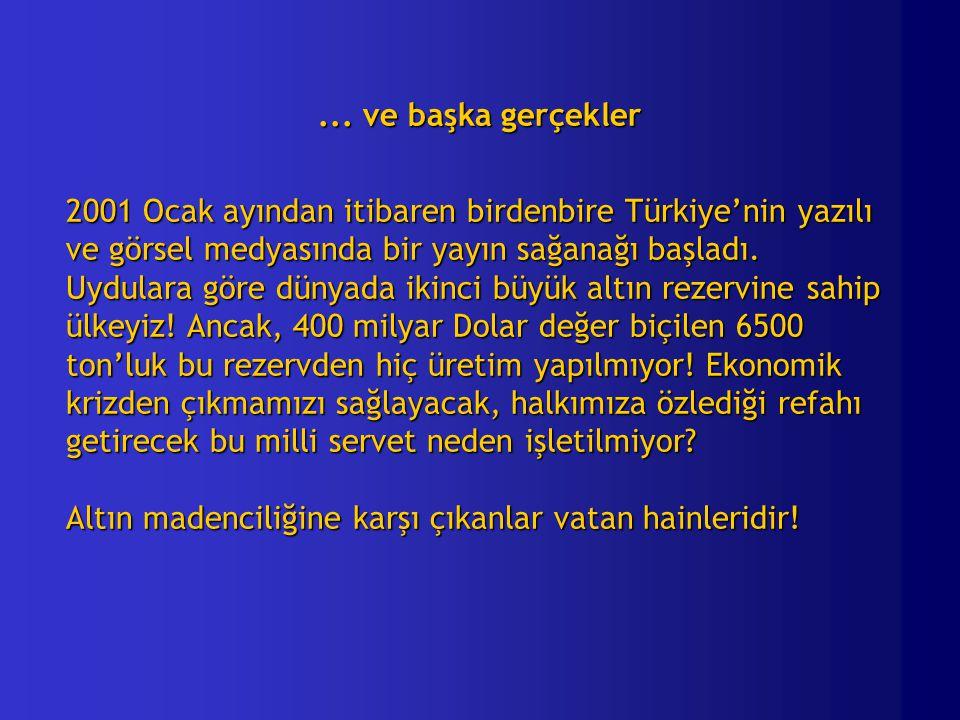 ... ve başka gerçekler 2001 Ocak ayından itibaren birdenbire Türkiye'nin yazılı. ve görsel medyasında bir yayın sağanağı başladı.