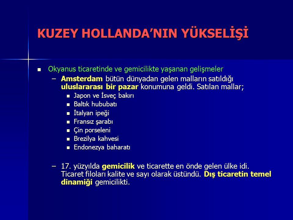 KUZEY HOLLANDA'NIN YÜKSELİŞİ