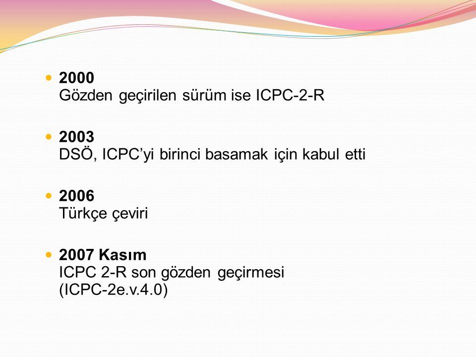 2000 Gözden geçirilen sürüm ise ICPC-2-R