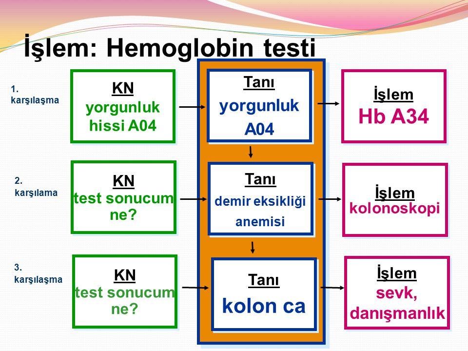 İşlem: Hemoglobin testi