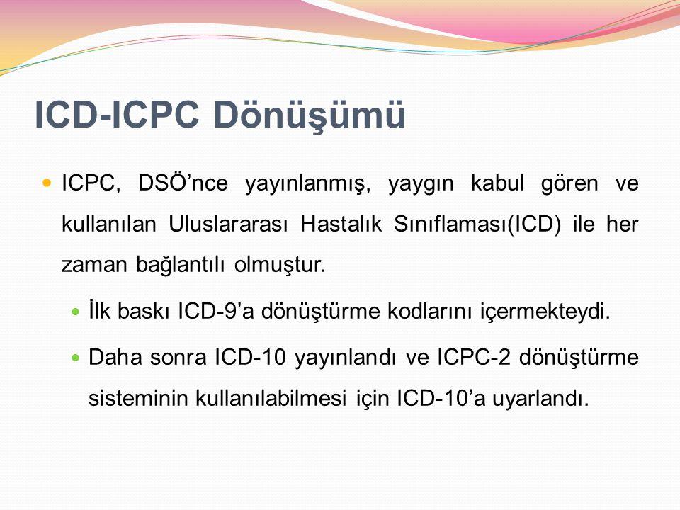 ICD-ICPC Dönüşümü