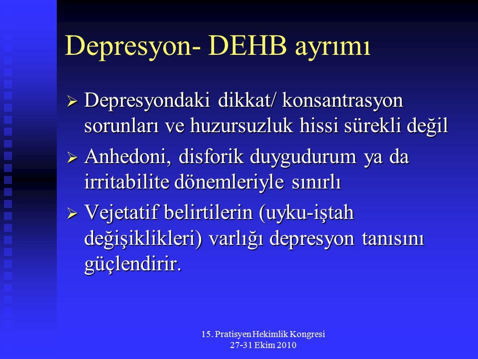 Depresyon- DEHB ayrımı