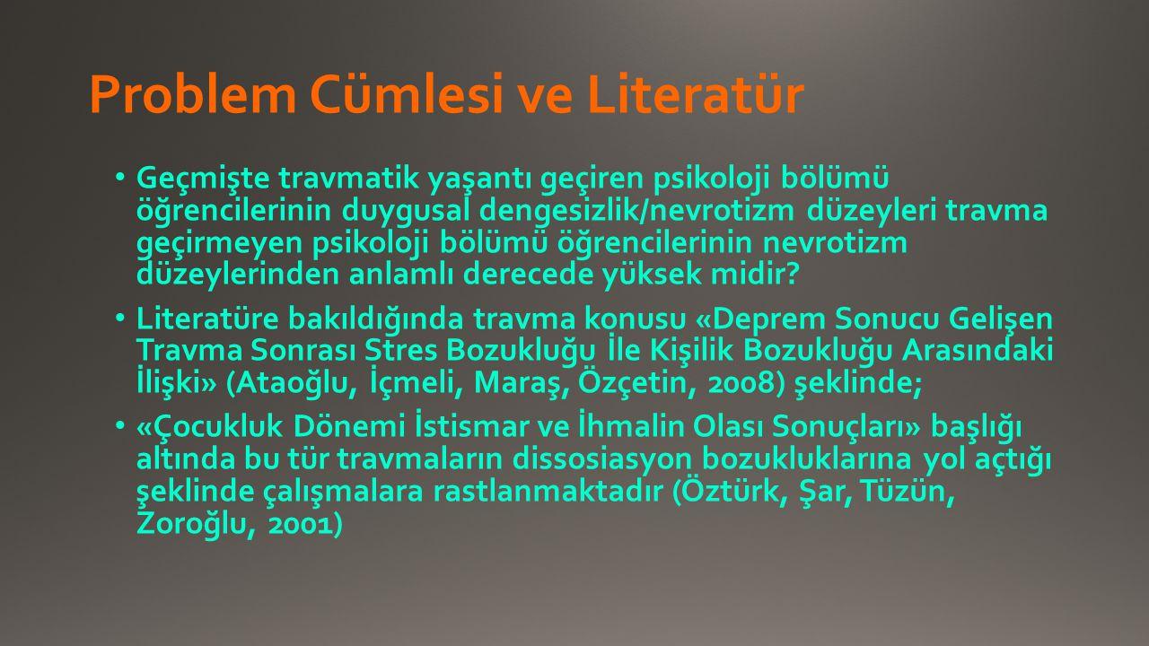 Problem Cümlesi ve Literatür