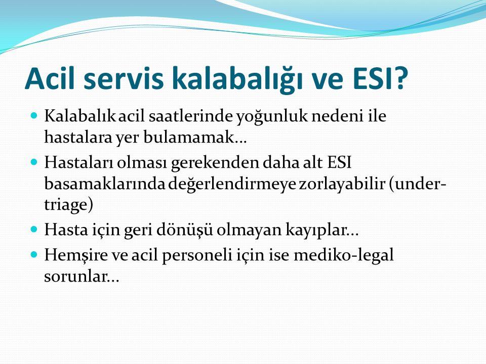 Acil servis kalabalığı ve ESI