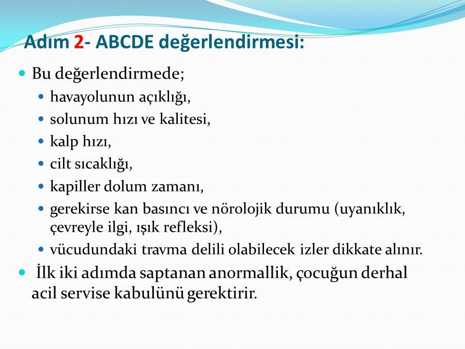Adım 2- ABCDE değerlendirmesi: