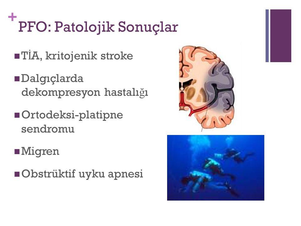 PFO: Patolojik Sonuçlar