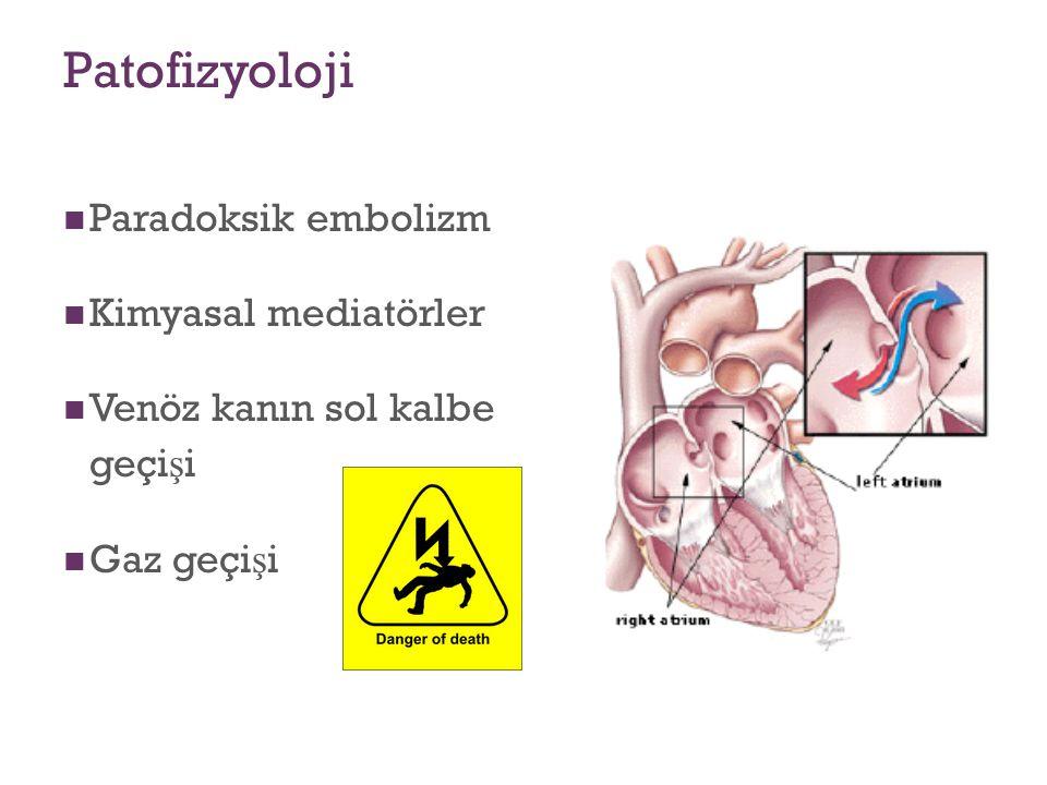 Patofizyoloji Paradoksik embolizm Kimyasal mediatörler