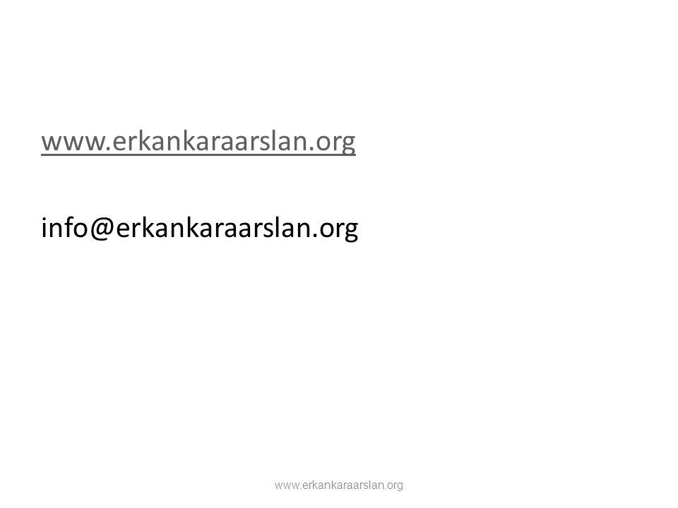 www.erkankaraarslan.org info@erkankaraarslan.org