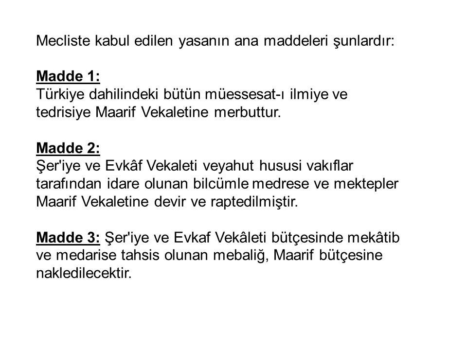 Mecliste kabul edilen yasanın ana maddeleri şunlardır: