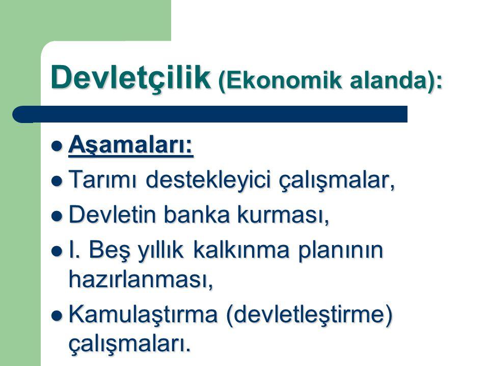 Devletçilik (Ekonomik alanda):