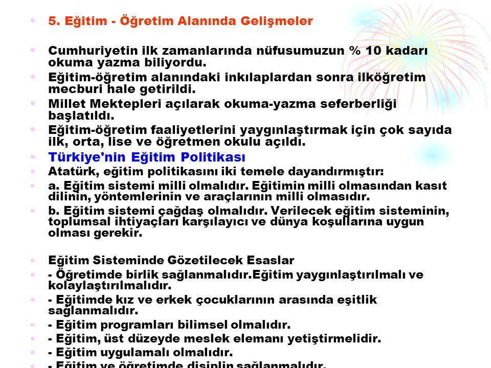 Türkiye nin Eğitim Politikası