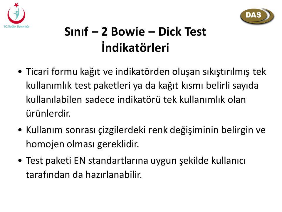 Sınıf – 2 Bowie – Dick Test İndikatörleri