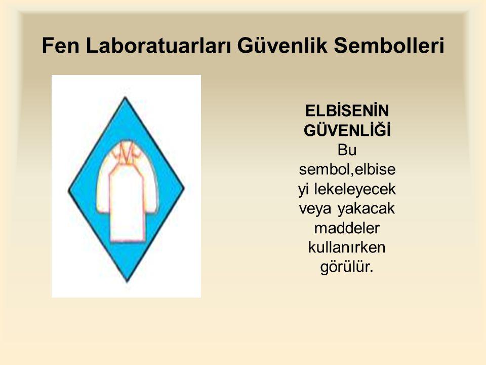 Fen Laboratuarları Güvenlik Sembolleri