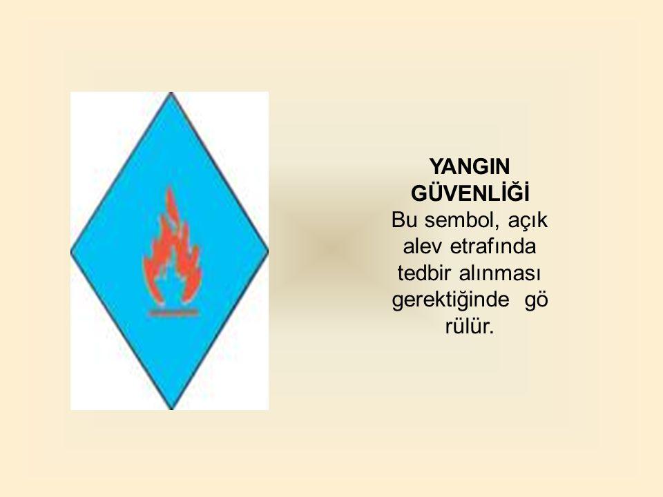 Bu sembol, açık alev etrafında tedbir alınması gerektiğinde görülür.