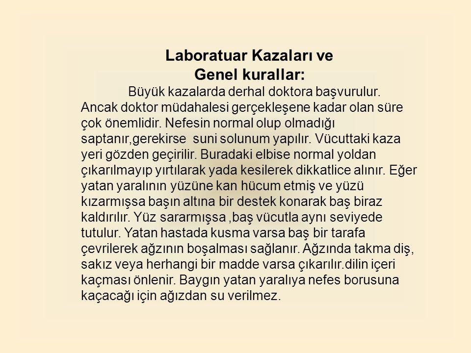 Laboratuar Kazaları ve