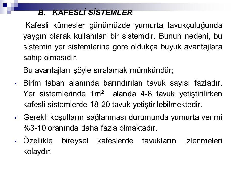 B. KAFESLİ SİSTEMLER