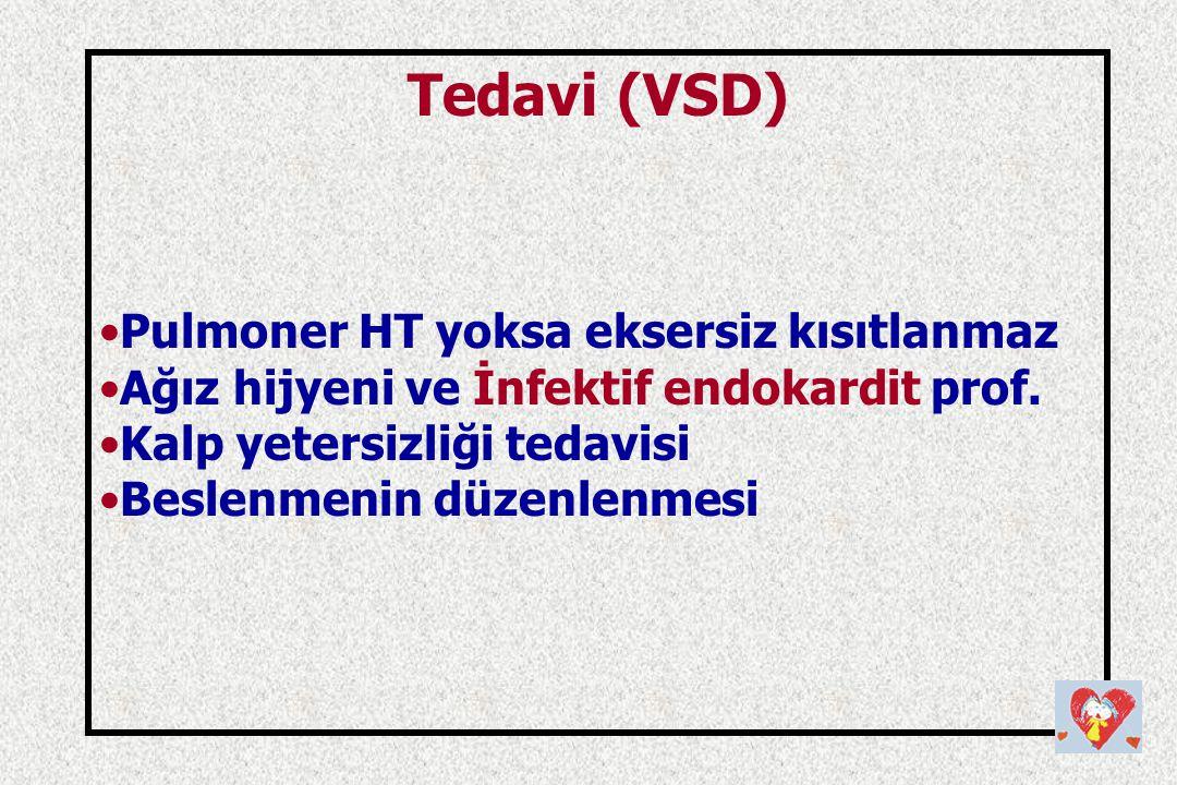 Tedavi (VSD) Pulmoner HT yoksa eksersiz kısıtlanmaz