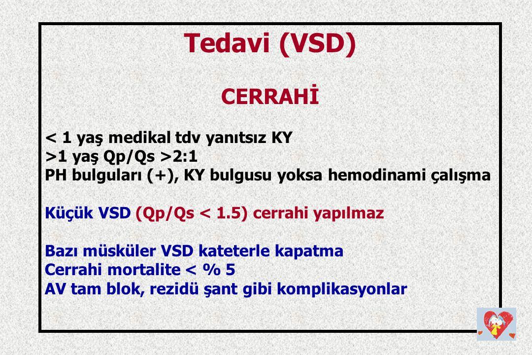 Tedavi (VSD) CERRAHİ < 1 yaş medikal tdv yanıtsız KY
