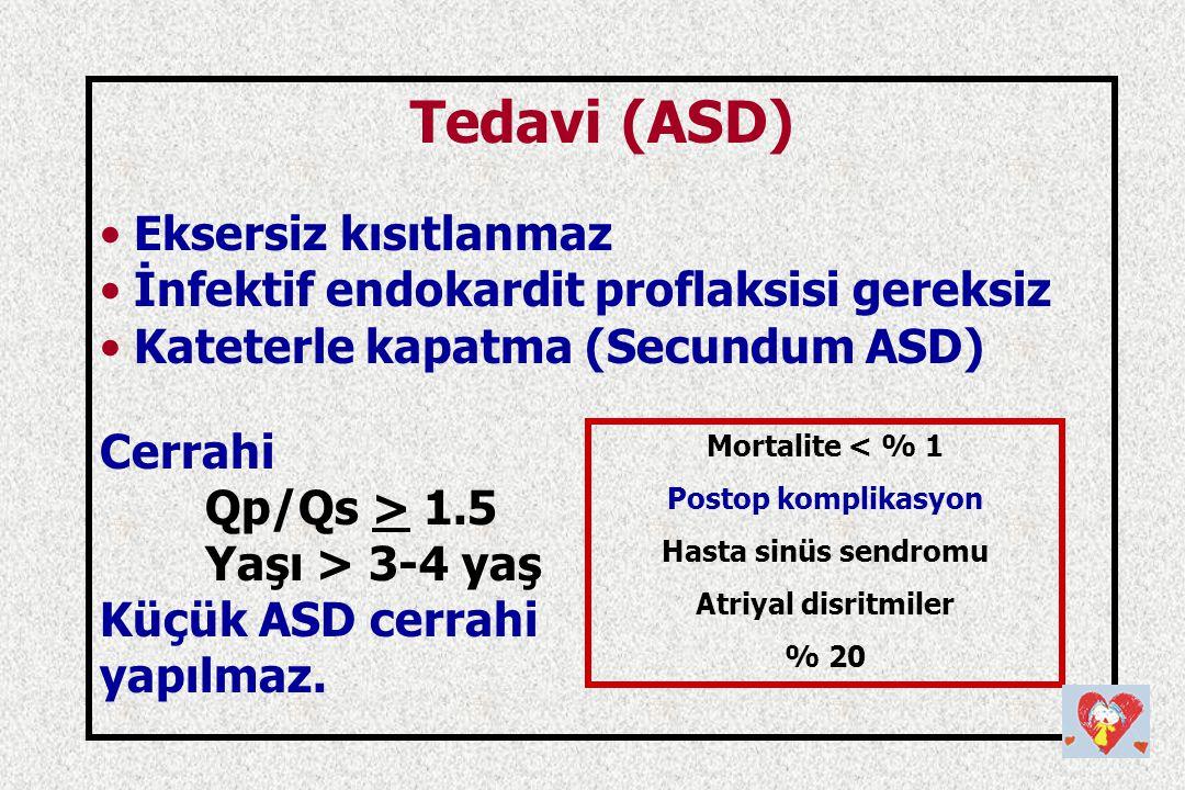 Tedavi (ASD) Eksersiz kısıtlanmaz