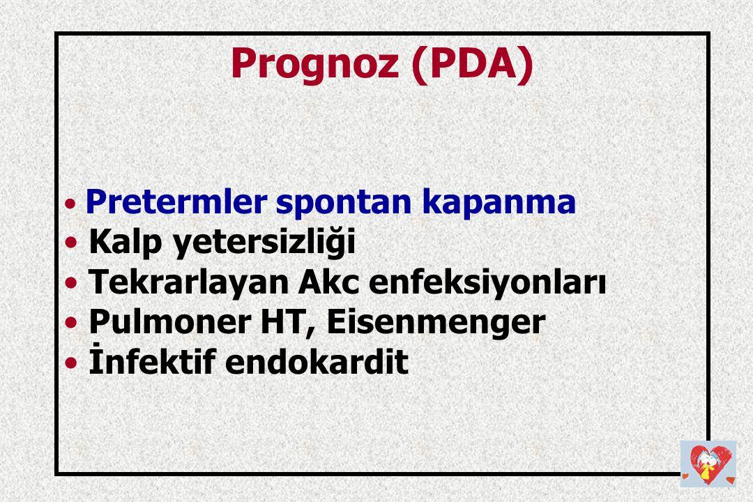 Prognoz (PDA) Kalp yetersizliği Tekrarlayan Akc enfeksiyonları