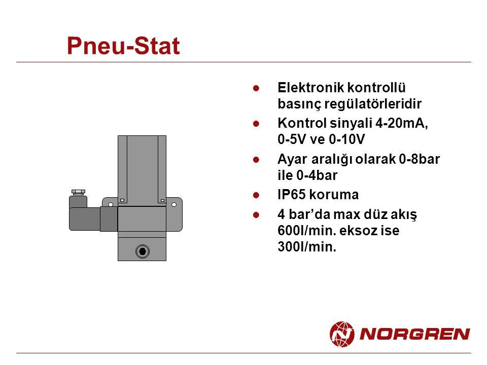 Pneu-Stat Elektronik kontrollü basınç regülatörleridir