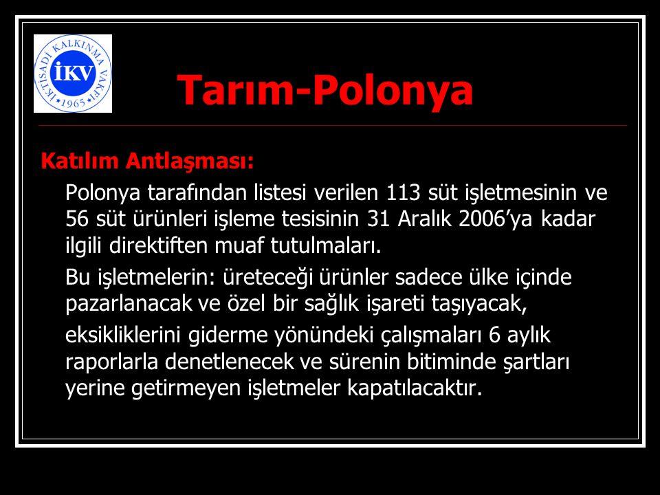 Tarım-Polonya Katılım Antlaşması: