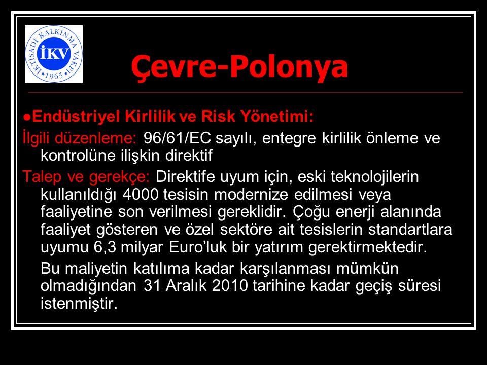 Çevre-Polonya ●Endüstriyel Kirlilik ve Risk Yönetimi: