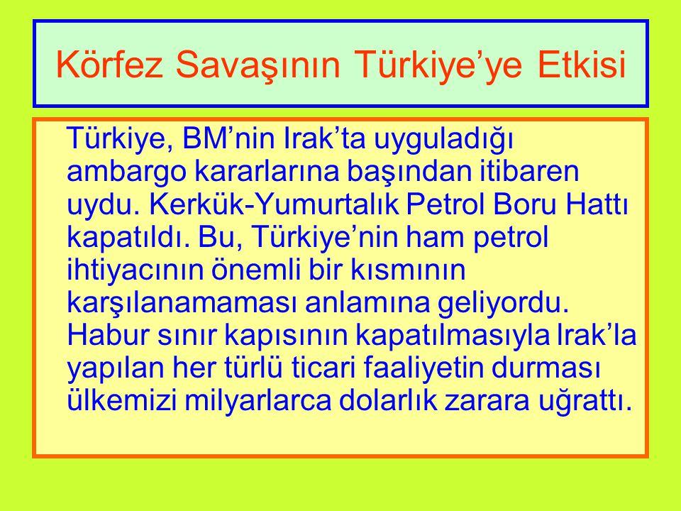 Körfez Savaşının Türkiye'ye Etkisi