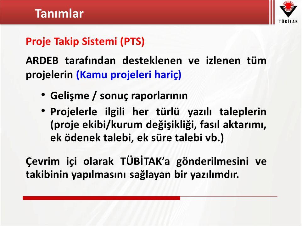 Tanımlar Proje Takip Sistemi (PTS)