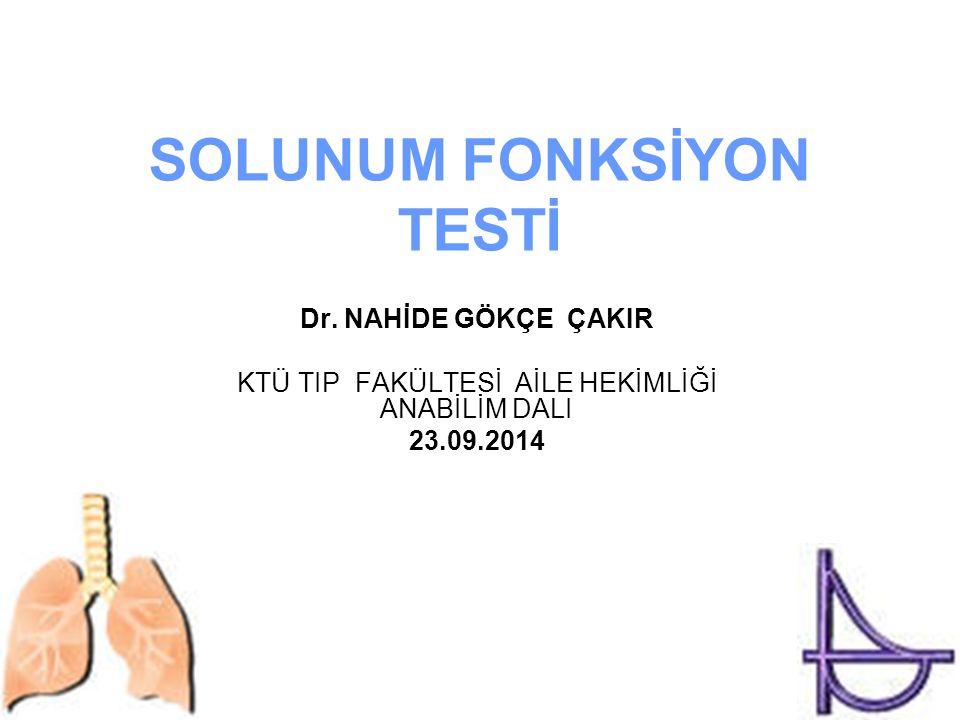SOLUNUM FONKSİYON TESTİ