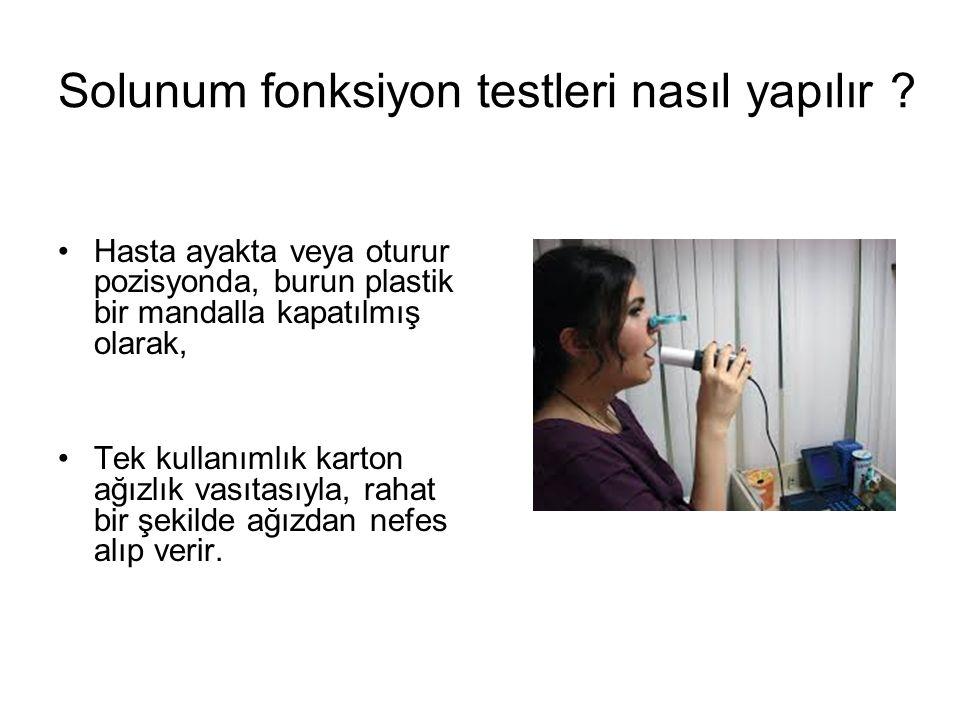 Solunum fonksiyon testleri nasıl yapılır